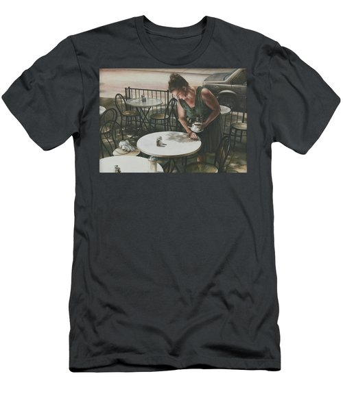 In The Absence Of A Dream Men's T-Shirt (Slim Fit) by Yvonne Wright