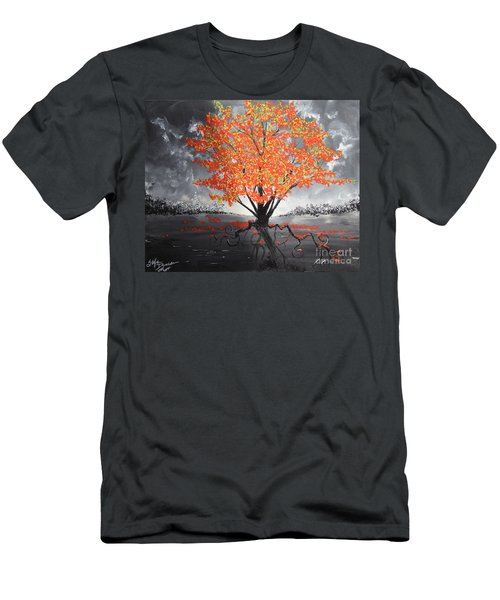 Blaze In The Twilight Men's T-Shirt (Athletic Fit)