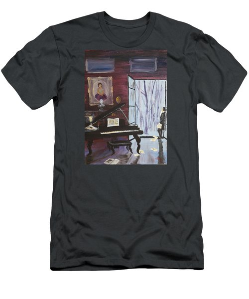 Men's T-Shirt (Slim Fit) featuring the painting In The Still Of The Night by Alan Lakin