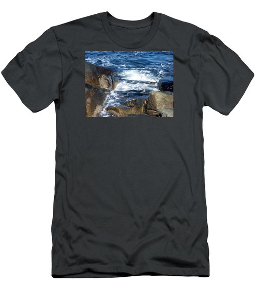 Incoming Tide Men's T-Shirt (Slim Fit) by Catherine Gagne