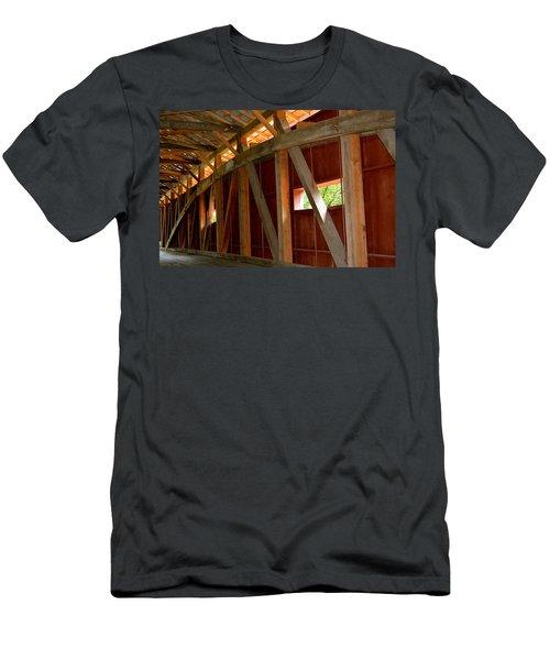 Inside A Covered Bridge 2 Men's T-Shirt (Athletic Fit)