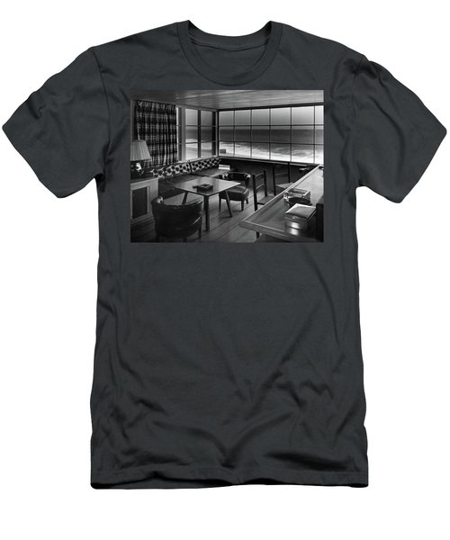 Interior Of Beach House Owned By Anatole Litvak Men's T-Shirt (Athletic Fit)