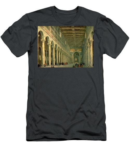 Interior Of The Church Of San Paolo Fuori Le Mura Men's T-Shirt (Athletic Fit)
