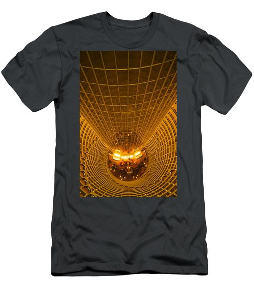 Interiors Of Jin Mao Tower Looking Men's T-Shirt (Athletic Fit)