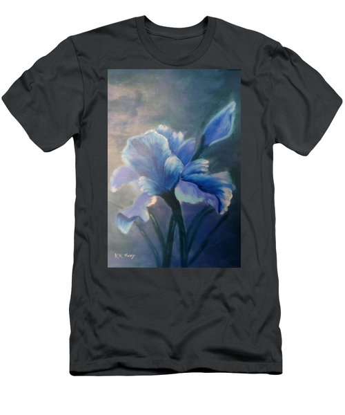 Iris Blue Men's T-Shirt (Athletic Fit)