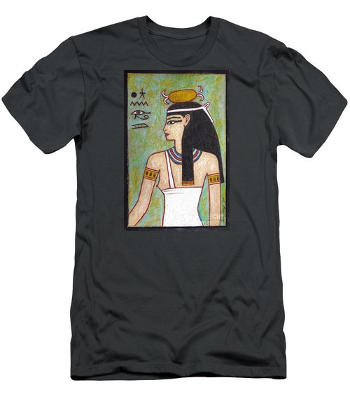 Men's T-Shirt (Slim Fit) featuring the drawing Isis by Joseph Sonday