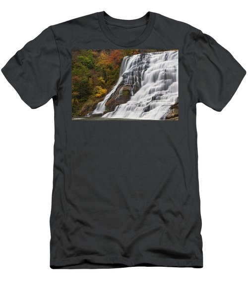 Ithaca Falls In Autumn Men's T-Shirt (Athletic Fit)