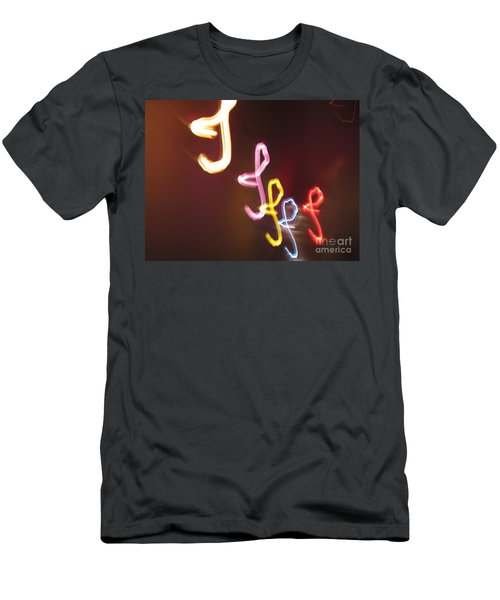 Men's T-Shirt (Slim Fit) featuring the photograph It's I... I... And More Of I. Dancing Lights Series by Ausra Huntington nee Paulauskaite