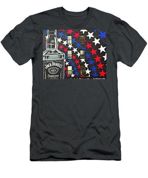 Men's T-Shirt (Slim Fit) featuring the photograph Jack Daniel's Wall Art by Joan Reese