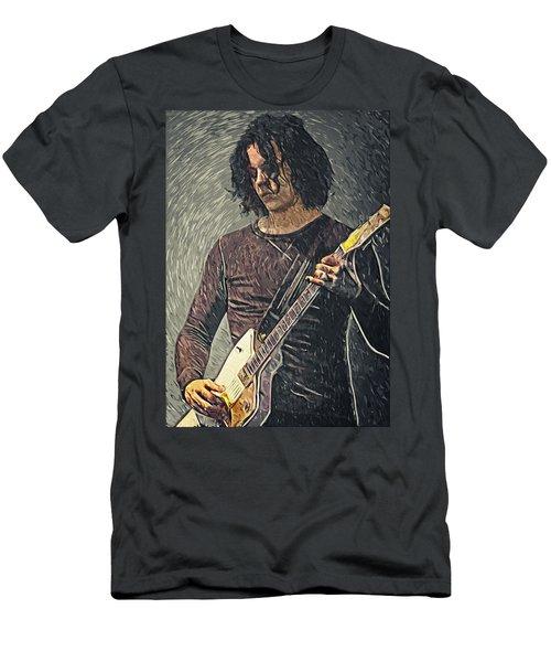 Jack White Men's T-Shirt (Slim Fit) by Taylan Apukovska