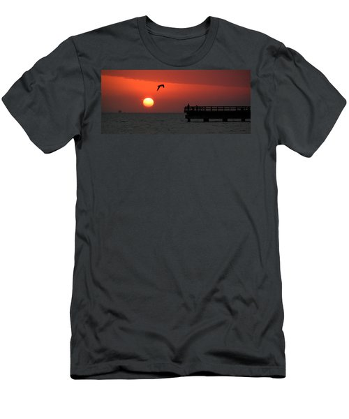 Jacks Sunrise Men's T-Shirt (Slim Fit) by Leticia Latocki
