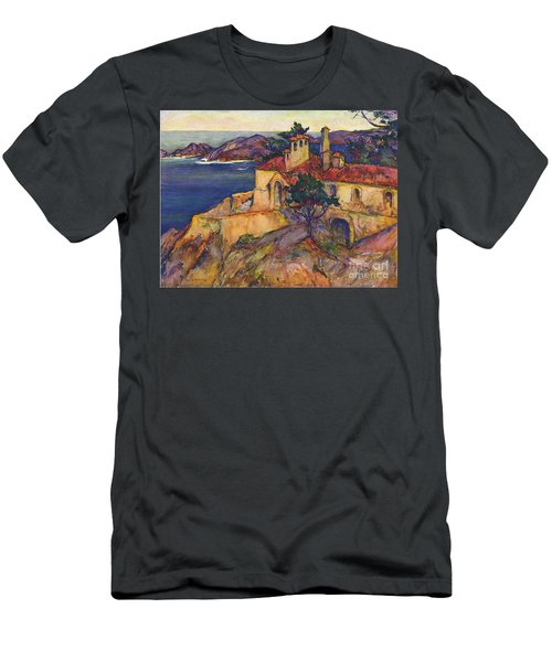 James House Carmel Highlands California By Rowena Meeks Abdy 1887-1945  Men's T-Shirt (Slim Fit) by California Views Mr Pat Hathaway Archives
