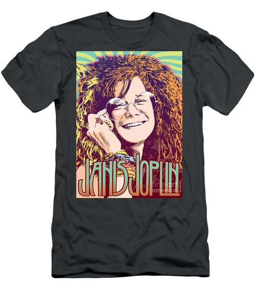 Janis Joplin Pop Art Men's T-Shirt (Athletic Fit)