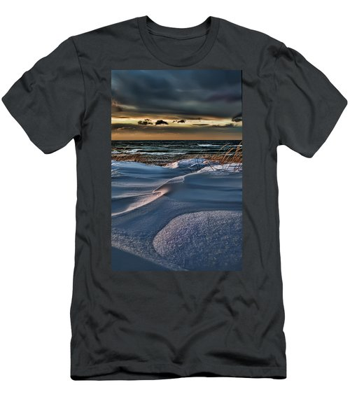 January Saugatuck Blues Michigan Men's T-Shirt (Athletic Fit)