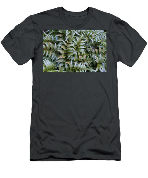 Men's T-Shirt (Slim Fit) featuring the photograph Japanese Ferns by Kathryn Meyer