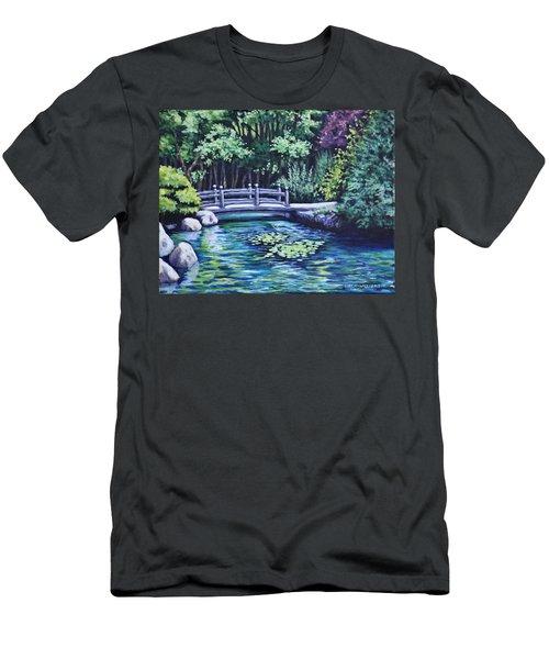 Japanese Garden Bridge San Francisco California Men's T-Shirt (Athletic Fit)
