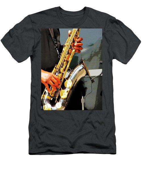 Jazz Man Men's T-Shirt (Slim Fit) by John Freidenberg