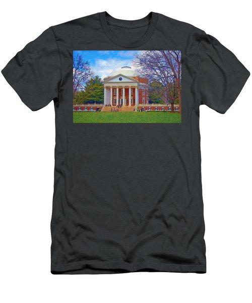 Jefferson's Rotunda At Uva Men's T-Shirt (Athletic Fit)