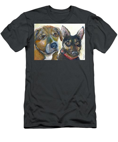 Jena And Dozer  Men's T-Shirt (Athletic Fit)
