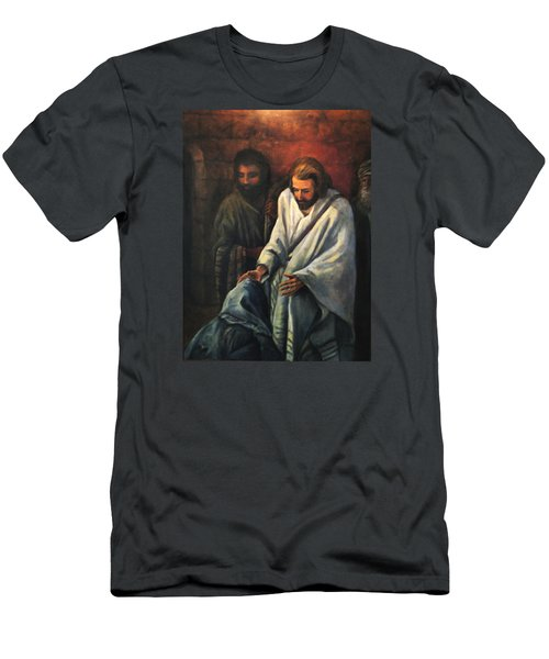 Jesus Healing Beggar Men's T-Shirt (Athletic Fit)