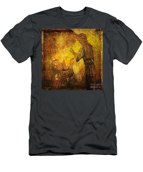 Jesus Meets His Mother Via Dolorosa 4  Men's T-Shirt (Athletic Fit)