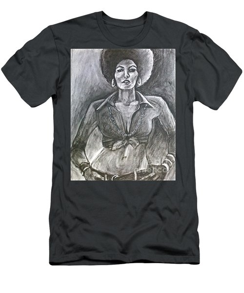 Men's T-Shirt (Athletic Fit) featuring the drawing Jezebel by Gabrielle Wilson-Sealy
