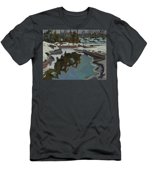 Jim Day Reflections Men's T-Shirt (Slim Fit) by Phil Chadwick