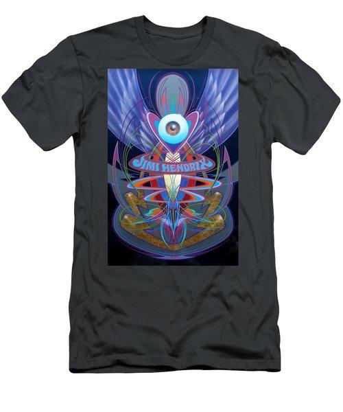 Jimi Hendrix Memorial Men's T-Shirt (Athletic Fit)