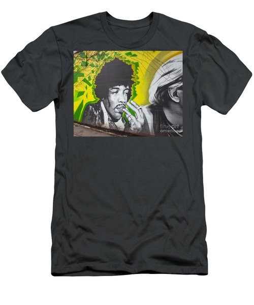 Jimmy Hendrix Mural Men's T-Shirt (Slim Fit) by Chris Dutton