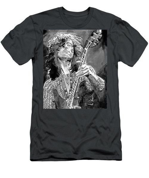 Jimmy Page Mono Men's T-Shirt (Athletic Fit)