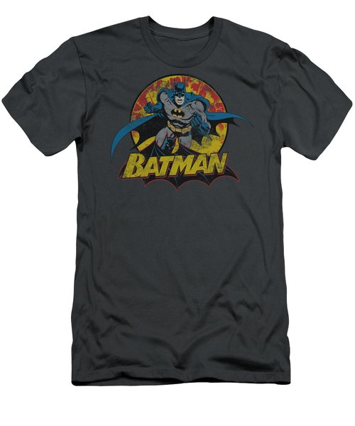Jla - Batman Rough Distress Men's T-Shirt (Athletic Fit)