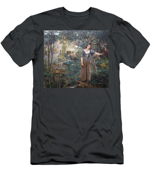 Joan Of Arc Men's T-Shirt (Slim Fit) by Jules Bastien-Lepage