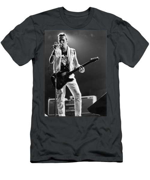 Joe Strummer At Clash Final Concert Men's T-Shirt (Athletic Fit)