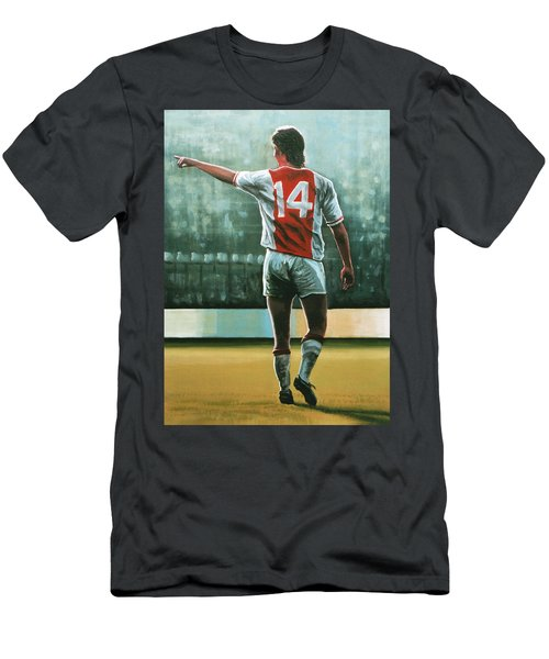 Johan Cruijff Nr 14 Painting Men's T-Shirt (Athletic Fit)