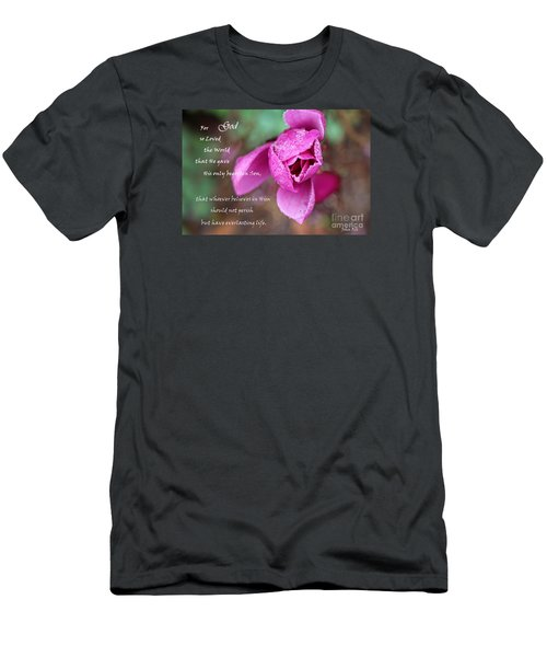 John 3 16 - Bible Verse Art Men's T-Shirt (Athletic Fit)