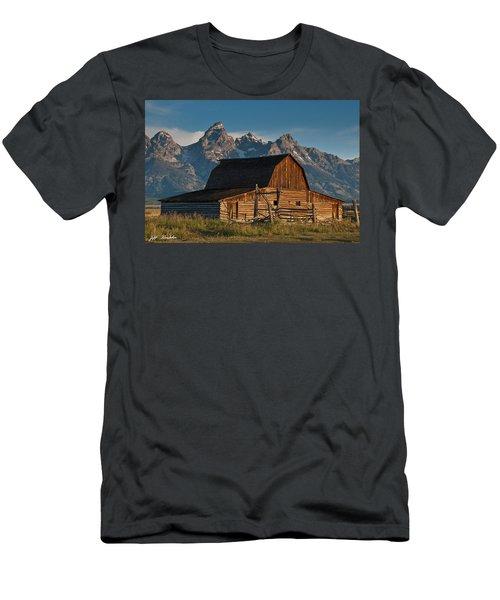 John And Bartha Moulton Barn Men's T-Shirt (Slim Fit) by Jeff Goulden