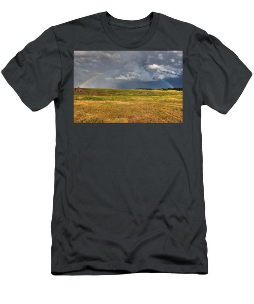 John Deer At The End Of The Rainbow Men's T-Shirt (Athletic Fit)