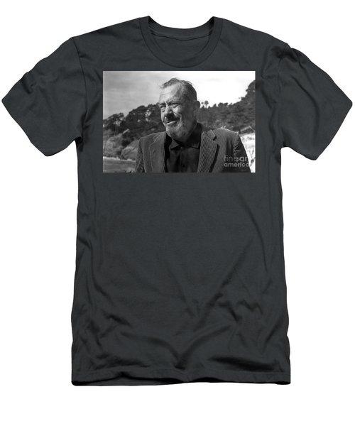 John Steinbeck Pebble Beach, Monterey, California 1960 Men's T-Shirt (Athletic Fit)