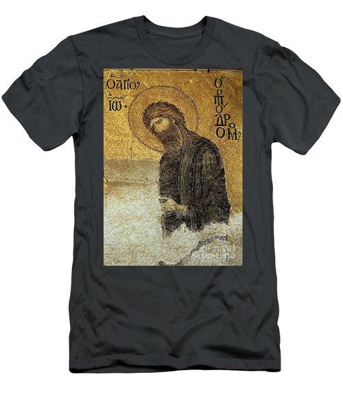 John The Baptist-detail Of Deesis Mosaic  Hagia Sophia-judgement Day Men's T-Shirt (Athletic Fit)