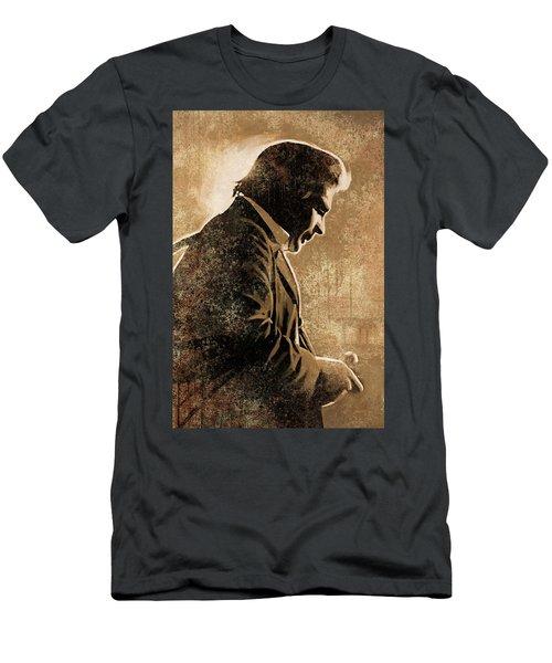 Johnny Cash Artwork Men's T-Shirt (Athletic Fit)