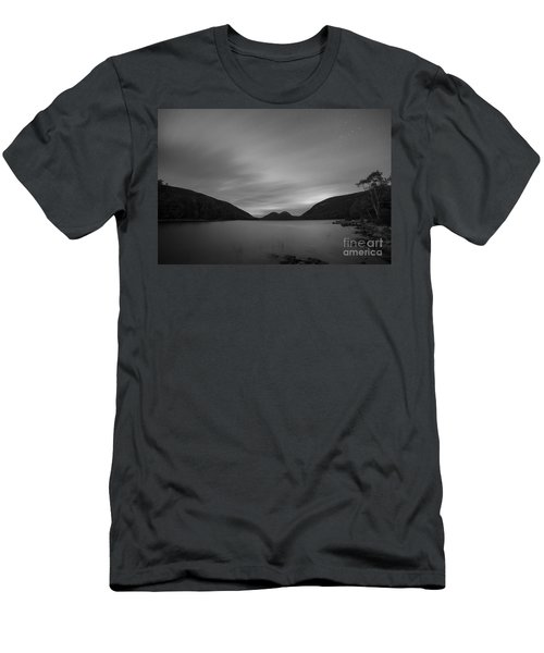 Jordan Pond Blue Hour Bw Men's T-Shirt (Athletic Fit)