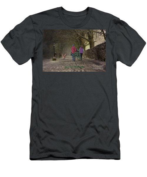 Joyeux Noel - Merry Christmas Men's T-Shirt (Athletic Fit)