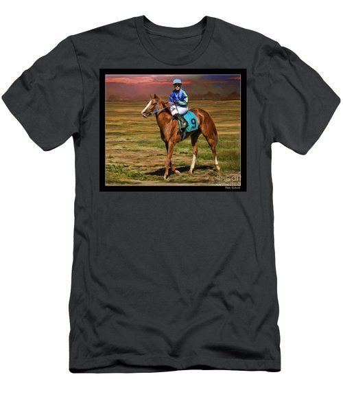 Juan Hermandez On Horse Atticus Ghost Men's T-Shirt (Athletic Fit)