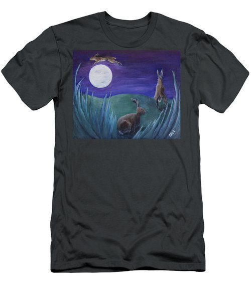 Jumping The Moon Men's T-Shirt (Athletic Fit)
