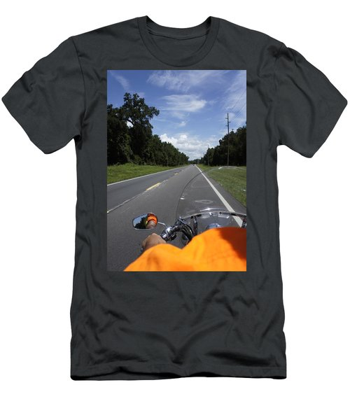 Just Ride Men's T-Shirt (Slim Fit) by Laurie Perry
