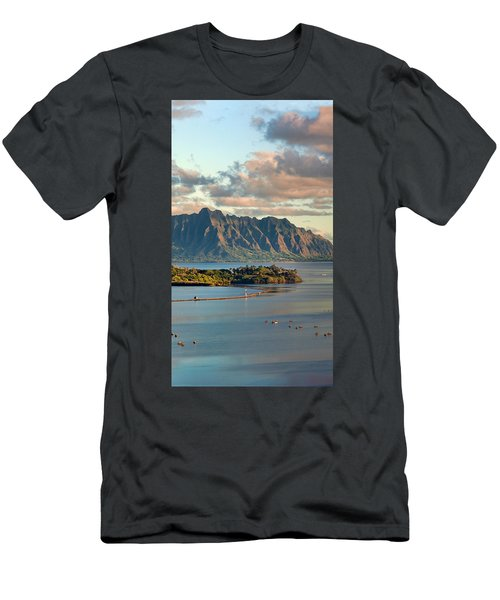 Kaneohe Bay Panorama Mural 2 Of 5 Men's T-Shirt (Athletic Fit)