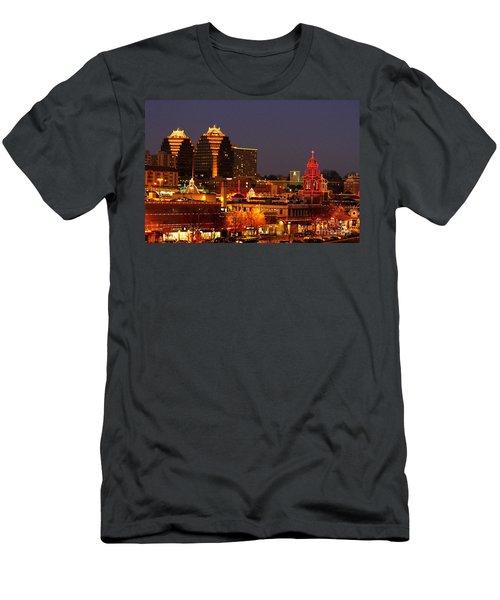 Kansas City Plaza Lights Men's T-Shirt (Slim Fit) by Catherine Sherman