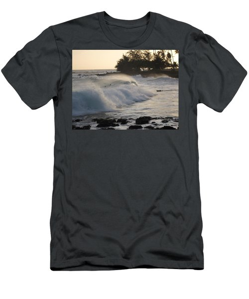 Kauai - Brenecke Beach Surf Men's T-Shirt (Slim Fit) by HEVi FineArt
