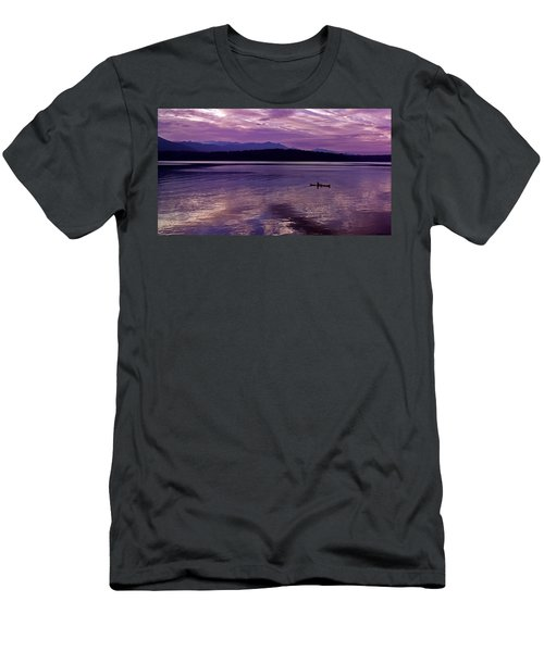 Men's T-Shirt (Slim Fit) featuring the photograph Kayak On Dabob Bay by Greg Reed
