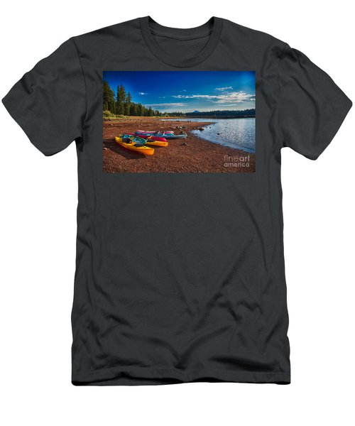 Kayaking On Howard Prairie Lake In Oregon Men's T-Shirt (Athletic Fit)
